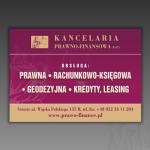 Projekt reklamy statycznej do telewizji regionalnej dla firmy KANCELARIA PRAWNO-FINANSOWA LAASER S.C.