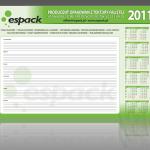 Projekt i wykonanie podkładu biurkowego dla firmy ESPACK