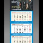 Projekt kalendarza trójdzielnego dla AKO OCHRONA