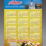 Projekt kalendarza arkuszowego B2 dla ZAKŁADU OPAKOWAŃ LEHAN