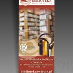 Projekt i wykonanie roll-up'a dla Biblioteki Publicznej