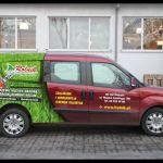 Projekt i wykonanie reklamy na samochodzie dla firmy Rolnik