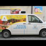 Projekt i wykonanie reklamy na samochodzie dla zakładu mięsnego