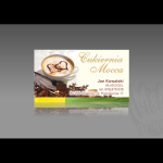 Projekt i wykonanie wizytówki dla firmy CUKIERNIA MOCCA