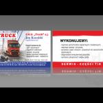 Projekt i wykonanie wizytówki dla firmy FHU TRUCK