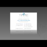 Projekt i wykonanie wizytówki dla firmy N-TIME