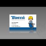 Projekt i wykonanie wizytówki dla firmy budowlanej TOMI